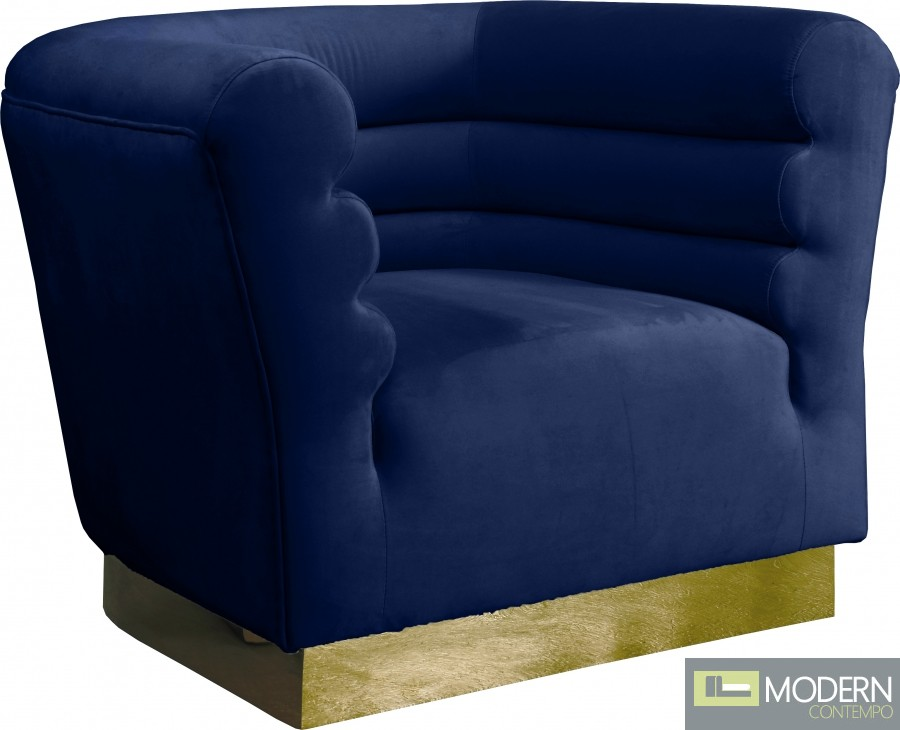 Cipriano Velvet Chair Navy
