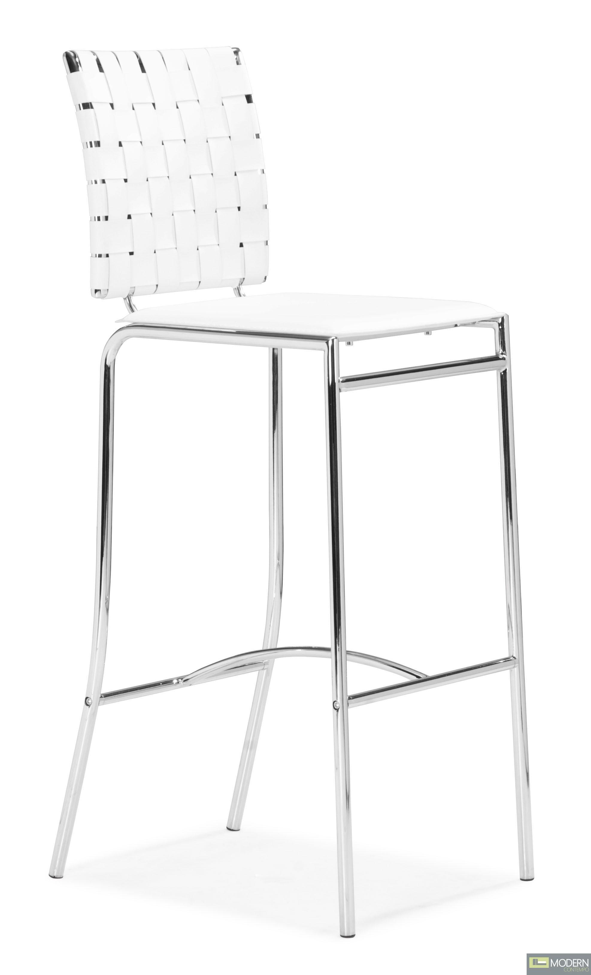 Criss Cross Bar Chair White