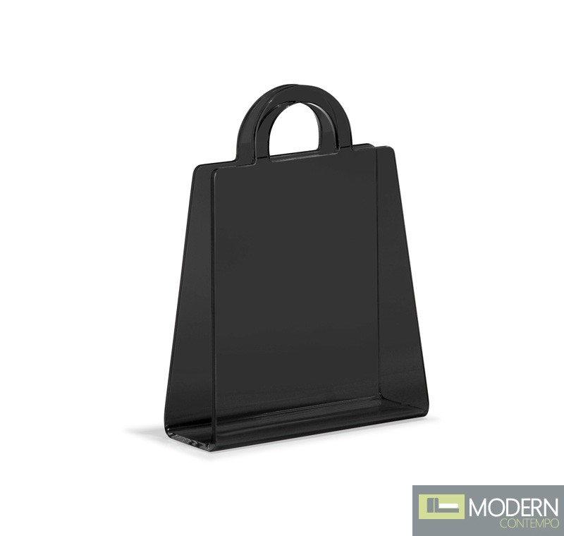 Purse Magazine Rack Transparent Black