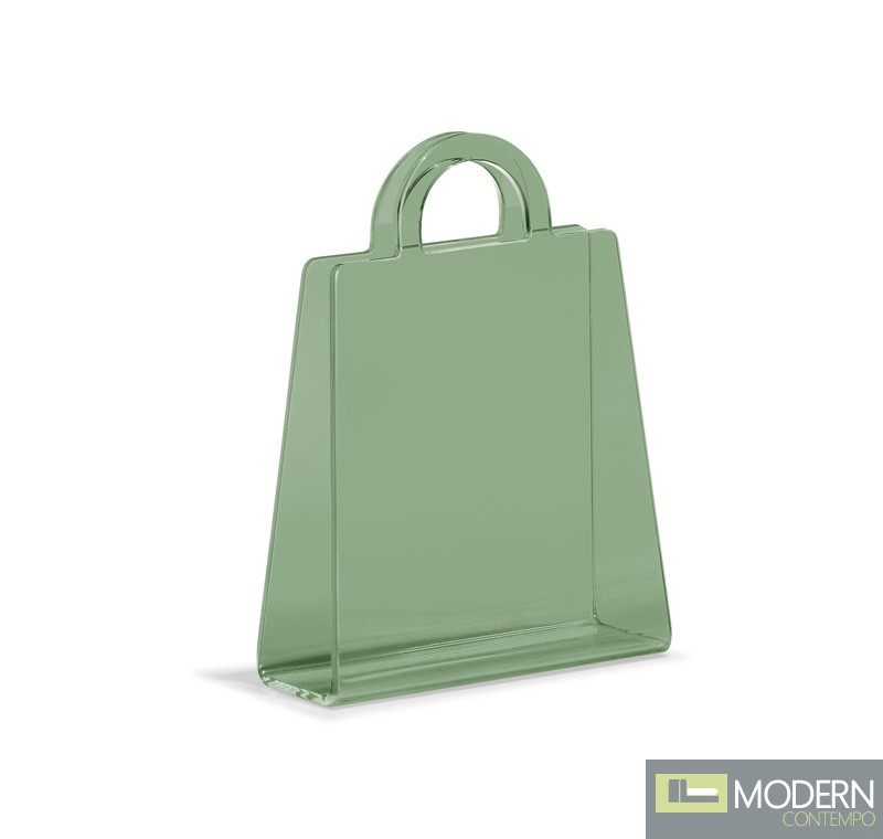 Purse Magazine Rack Transparent Green