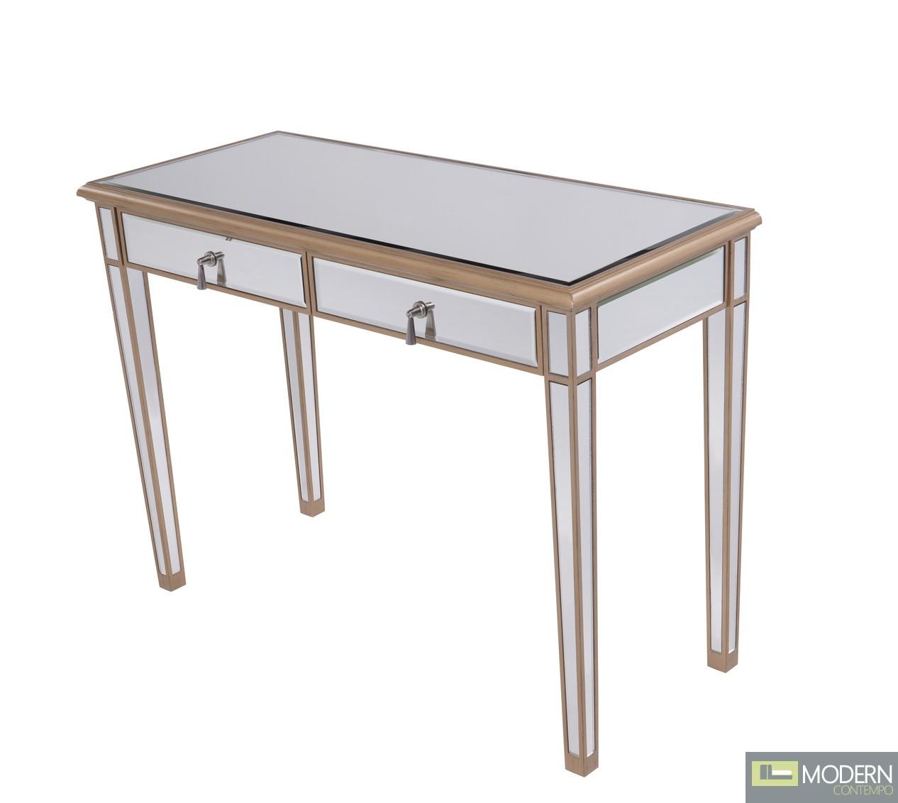 Asta 2 Drawers Dressing table/Desk Gold