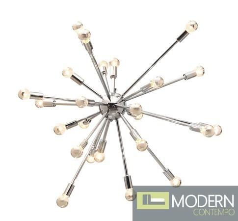 Physics Ceiling Lamp Chrome