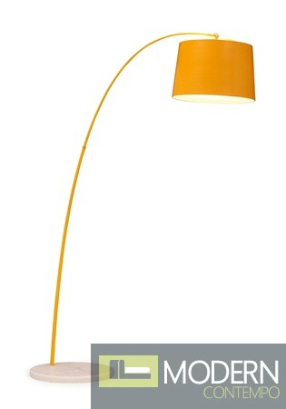 Twisty Floor Lamp Yellow w/ White Base