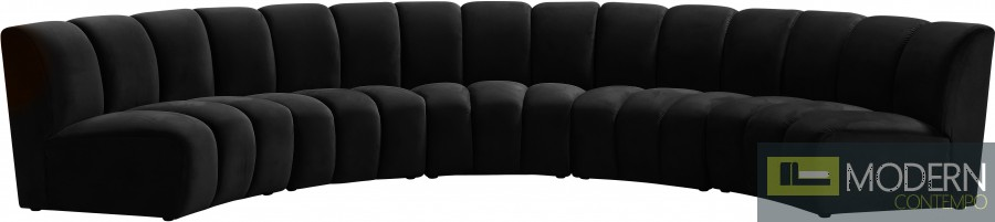 Eternity Velvet Modular Sectional Sofa 5PC