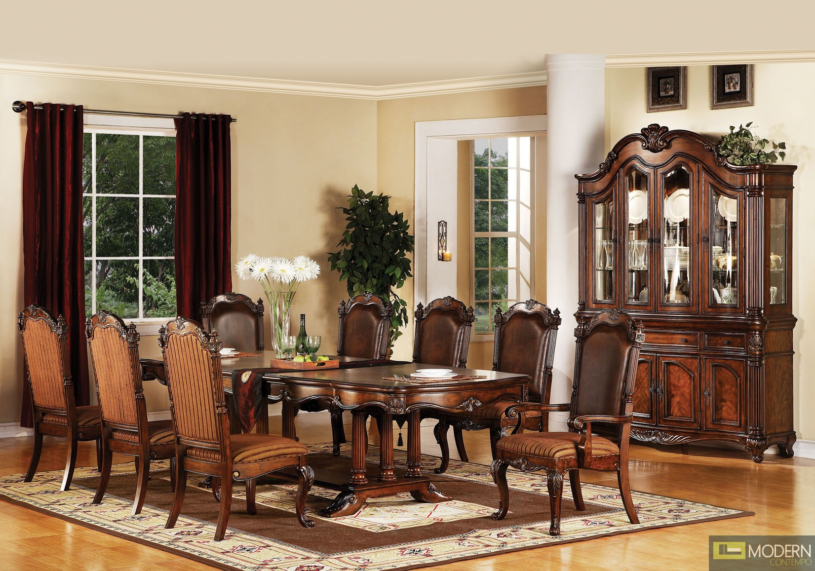 60030 Remington Brown Cherry Finish Classic Dining Table by Acme