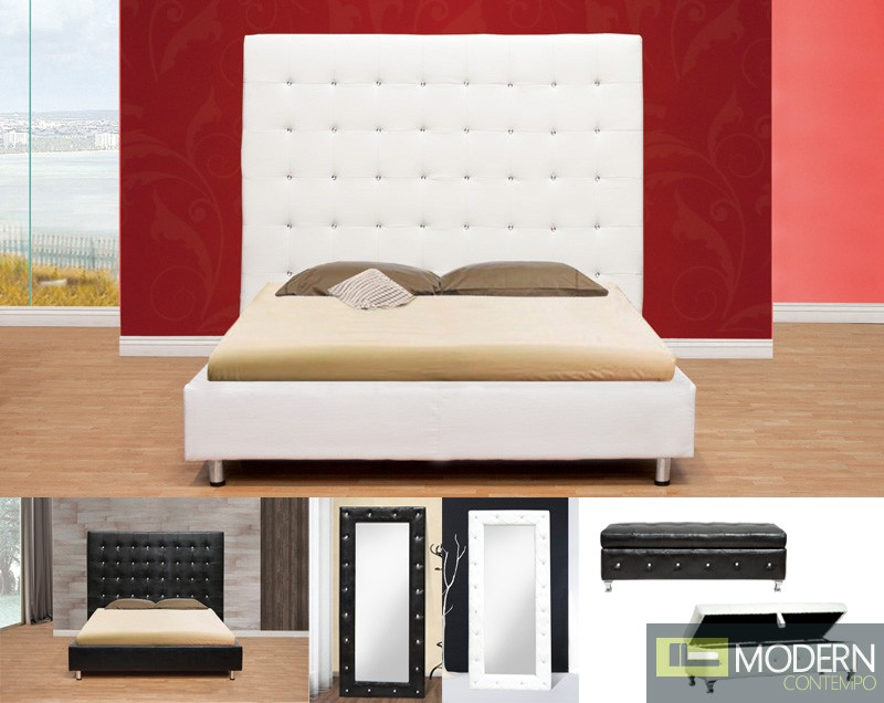 Baron Platform Bed with Crystals