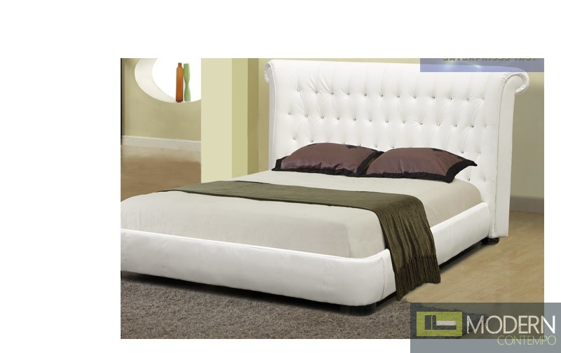 Abruzzo Platform Bed with crystals