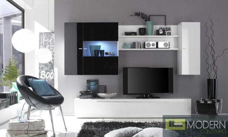 Modern Italian TV Wall Entertainment Unit MCPRM D
