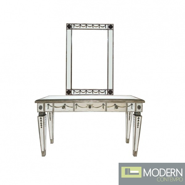 Toulon Mirrored Antique Gilded Console
