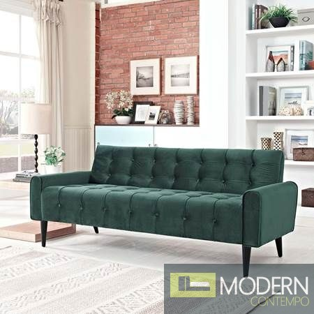 Dolce Vita Tufted Velvet Sofa Emerald Green