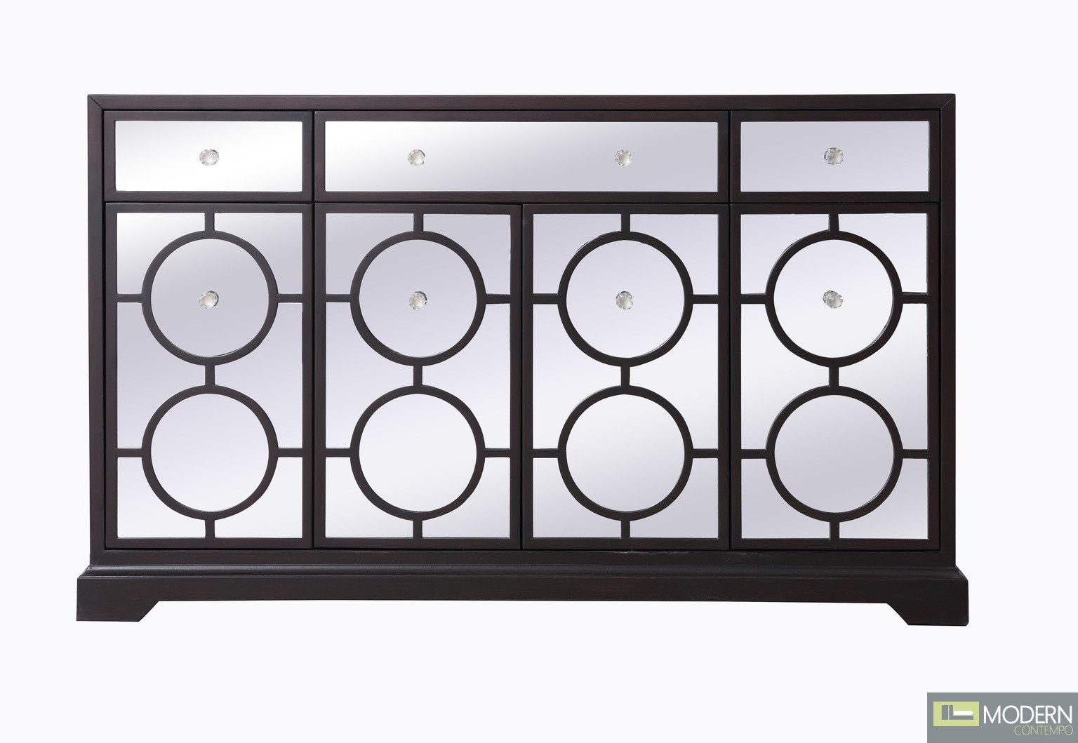 """Burch mirrored six drawer credenza in Black 60"""""""