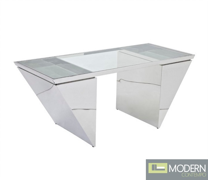 Eureka High Polished Stainless Steel Office Desk
