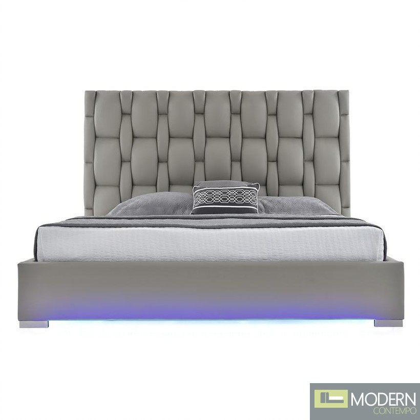 Livia Platform Bed with LED
