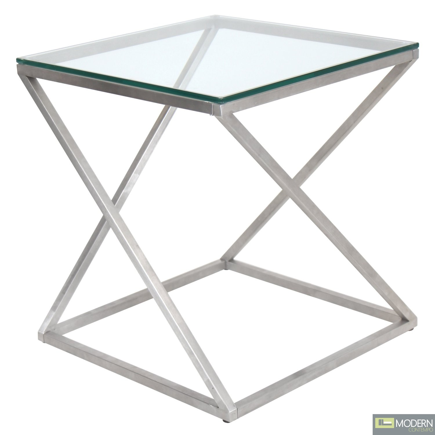 Contorto Clear Glass Side Table
