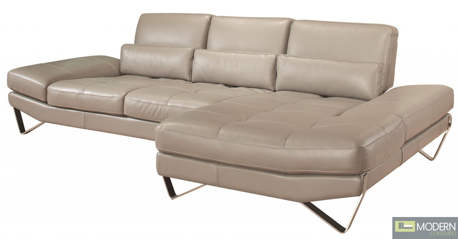 833 Italian Leather Sectional Right Hand Facing