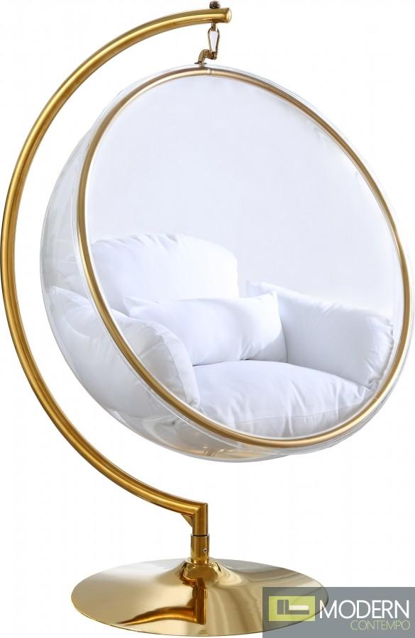 Zen Gold Acrylic Hanging Swing Bubble, Bubble Hanging Chair