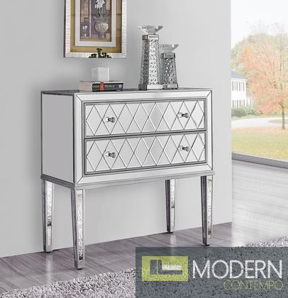 Reflexion Antique Silver Paint 34-Inch Nightstand