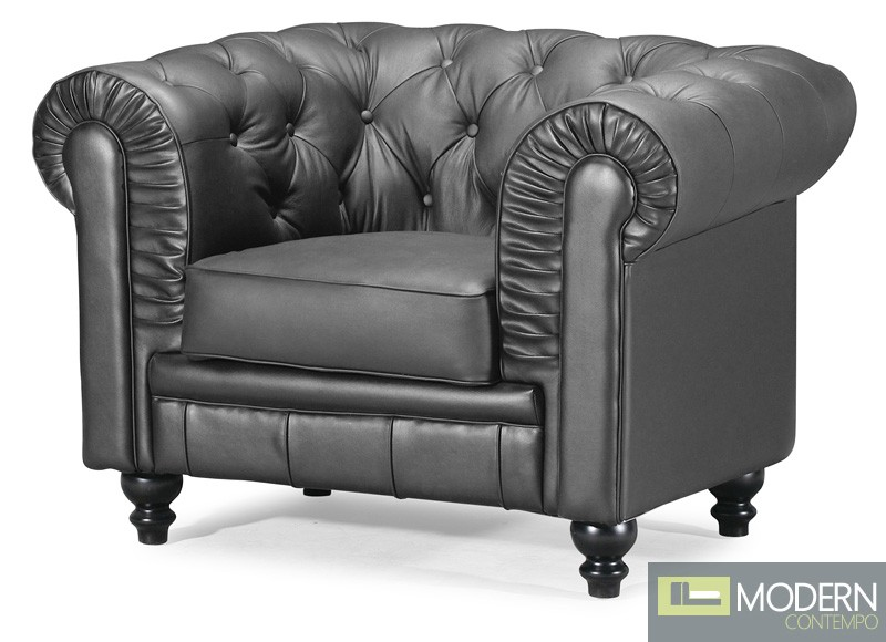 Aristocrat Chesterfield Arm Chair Black