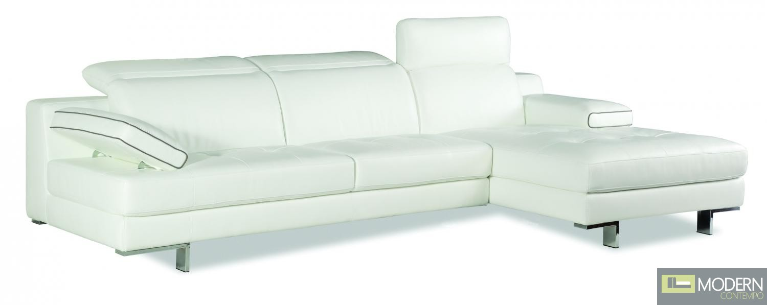 9097 Italian Leather Sectional Right Hand Facing