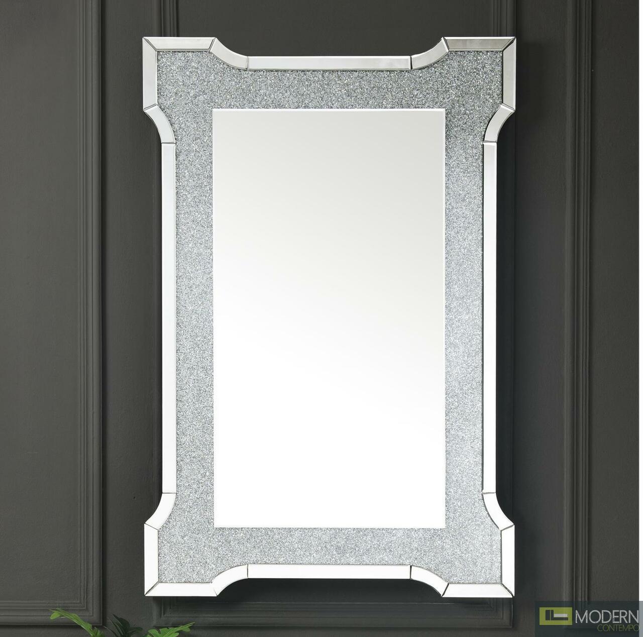 Phoenix Wall Decor in Mirrored & Faux Diamonds