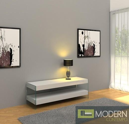 Modern White Floating TV Unit