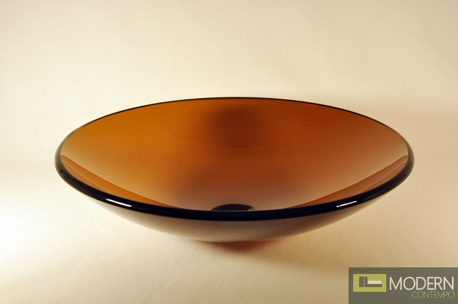 Home Clear Tea Low Profile Round Vessel Sink