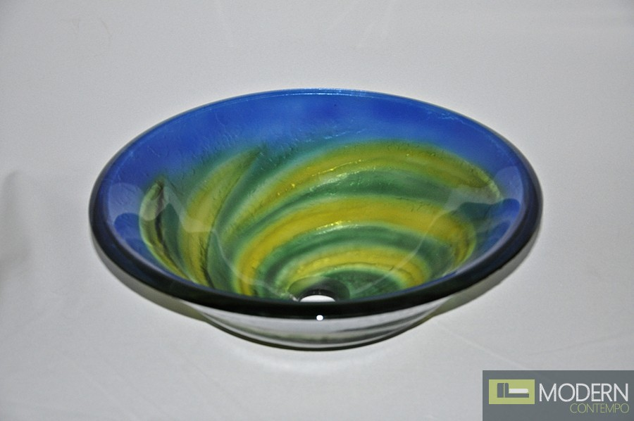 Green and Yellow Twisted Vessel