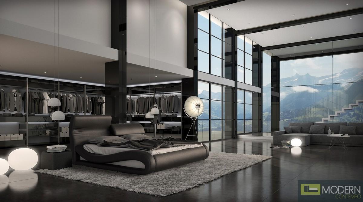 Modrest Caledonia Modern Black Bed