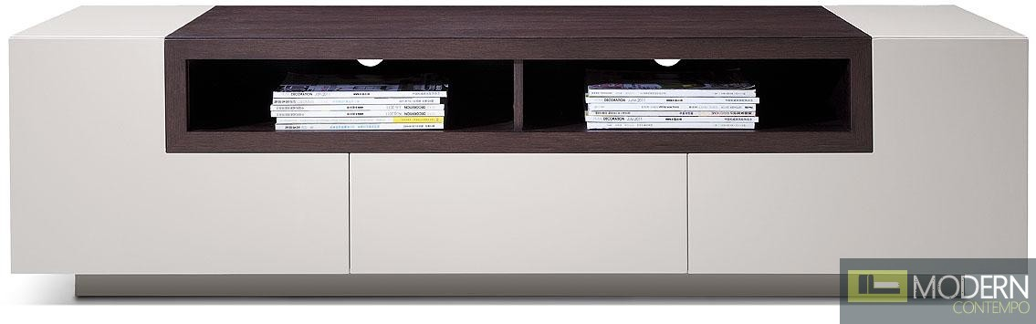 Modrest TV002 - Modern Glossy Grey TV Unit