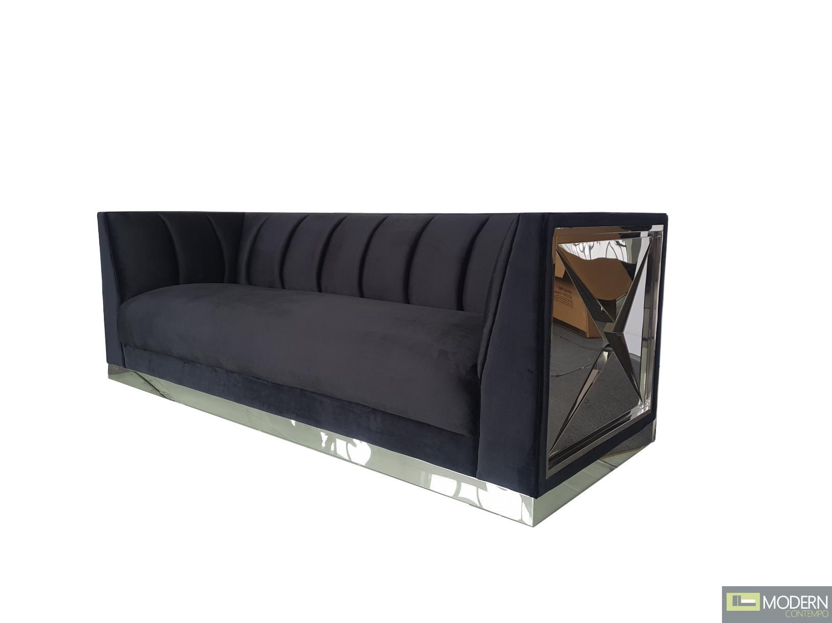 Duchess High Performance Luxury Black Velvet Sofa