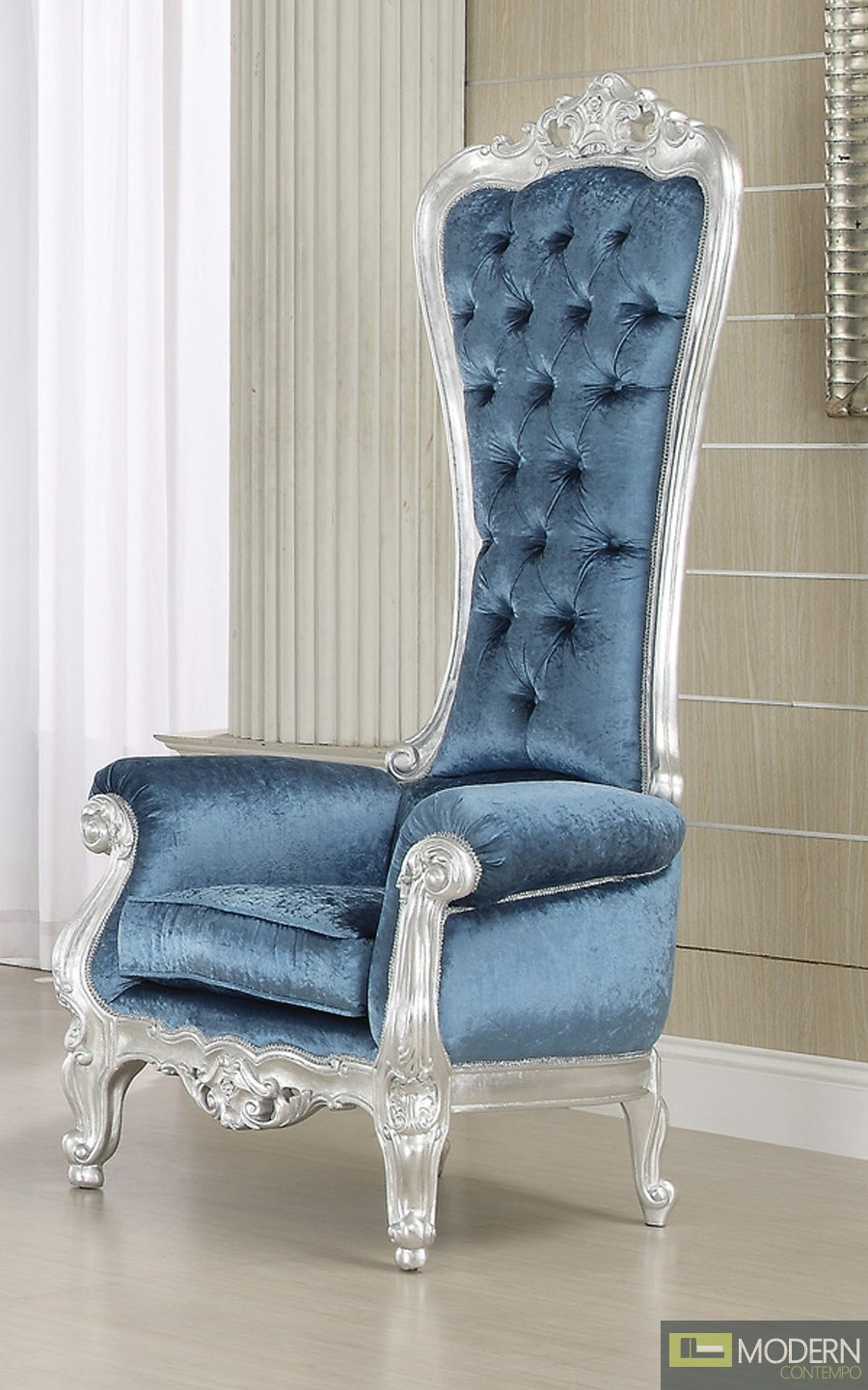 French Style Victorian Extreme High Back Royal Throne
