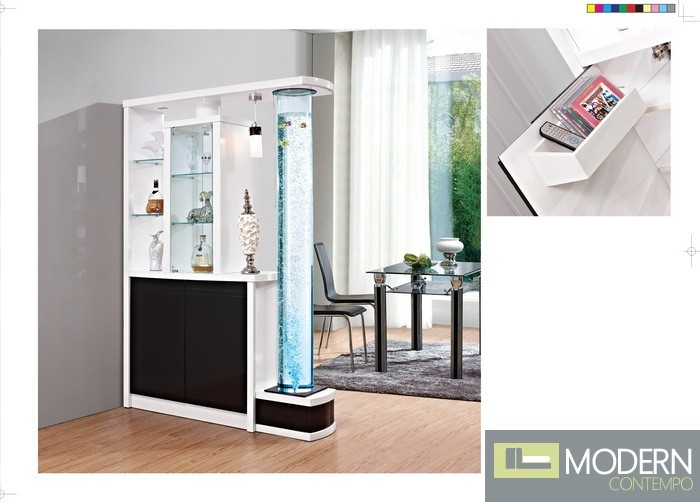 Modern Contemporary Aquarium Book case Curio Display Room divider