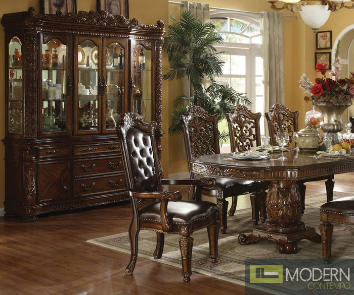 Vendome Traditional Formal Dining Room Cherry Finish: Dark Cherry Finish Vendome Formal Dining Room Table W/Options