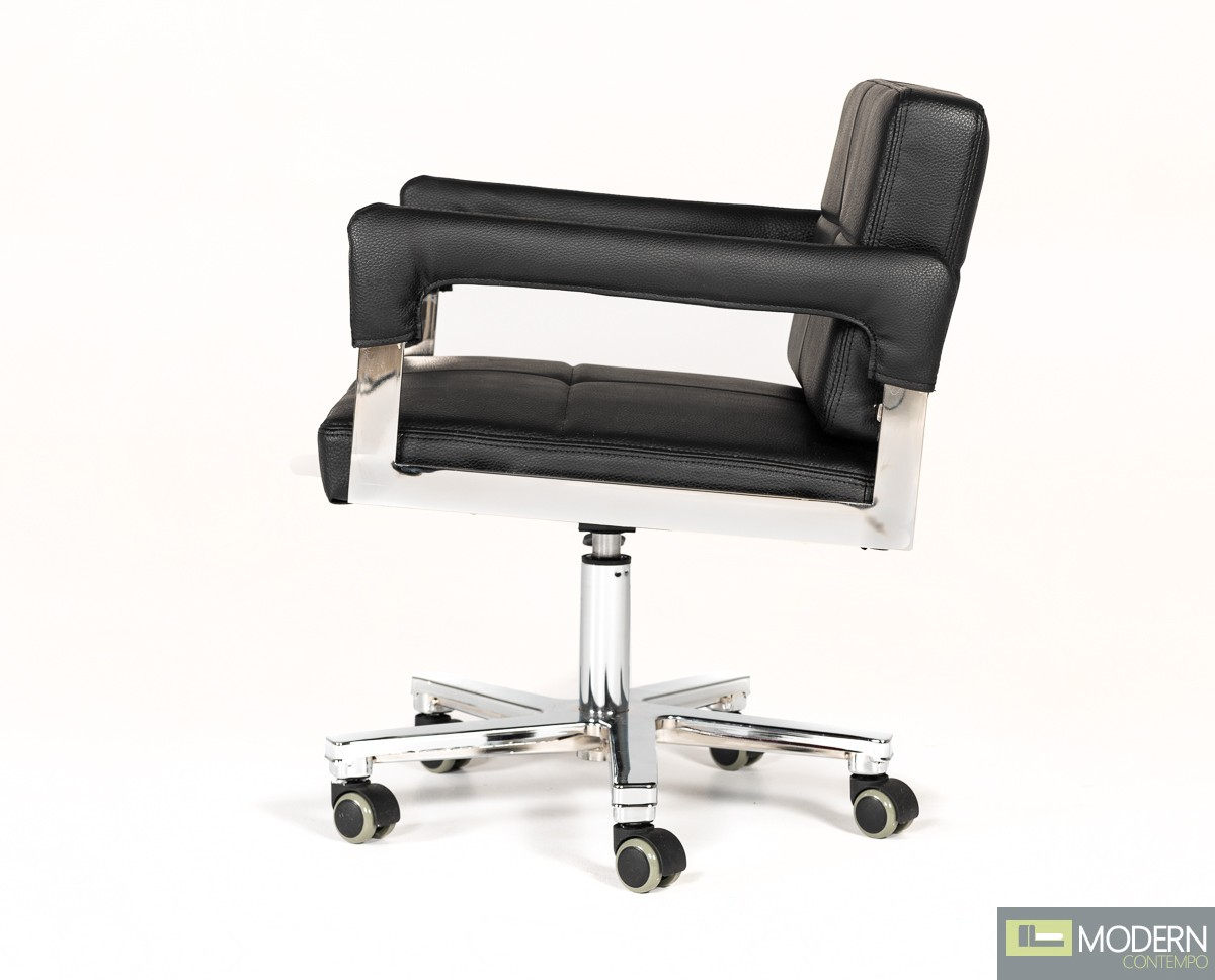 Modern Contempo - Lilou Modern Black Bonded Leather Office ...