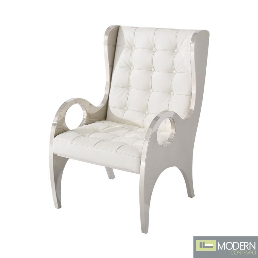 Bozutto Stainless Steel Accent Chair