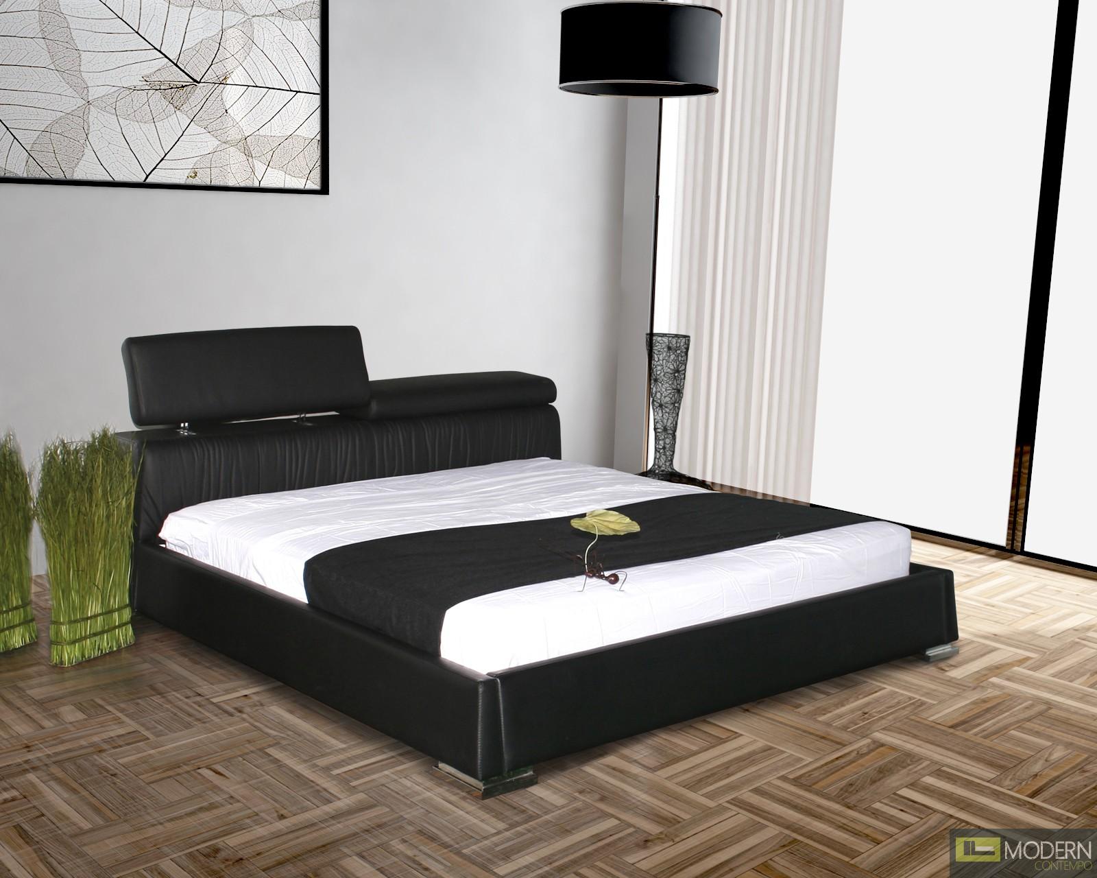 Angel Full Leather Platform Bed