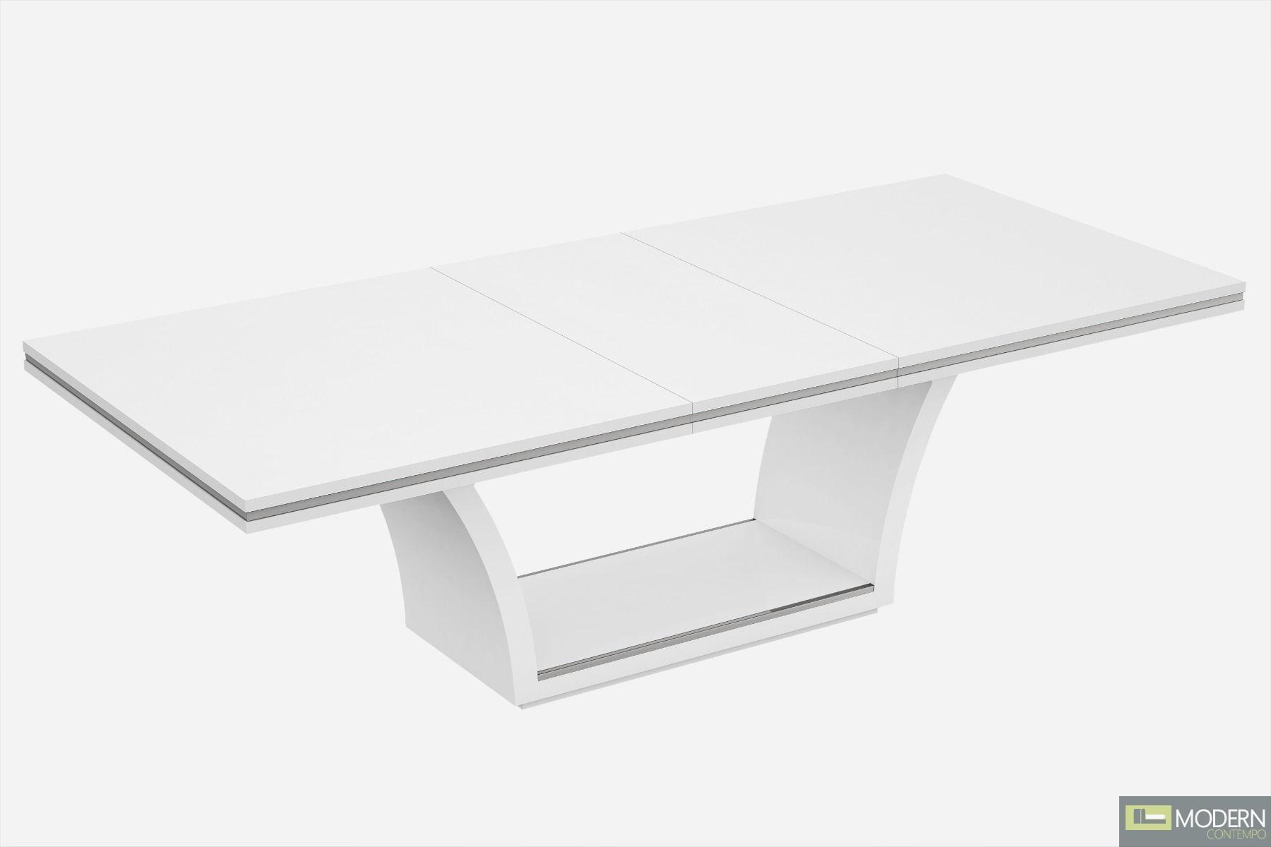 Alanna Extendable Dining Table, White High Gloss