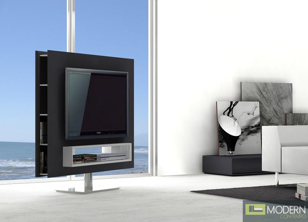 Braga Premium Swivel TV Stand Unit with Storage