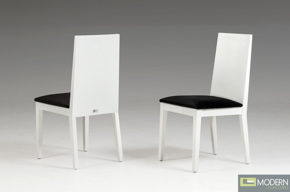 A&X Harmonia White Dining Chair - Set of 2