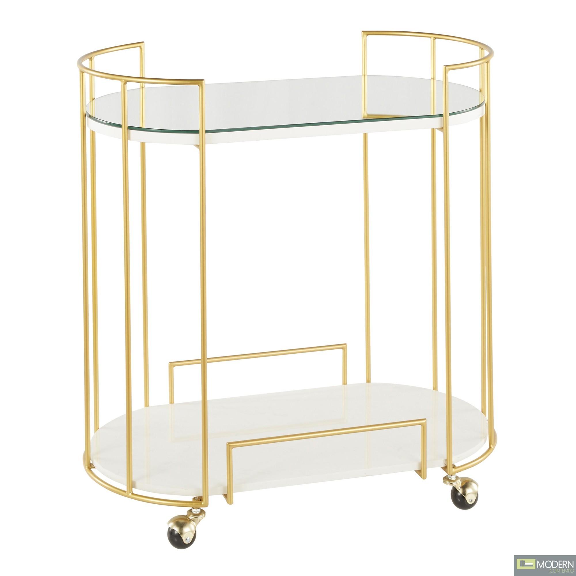 Dazzle Me Bar Cart GOLD