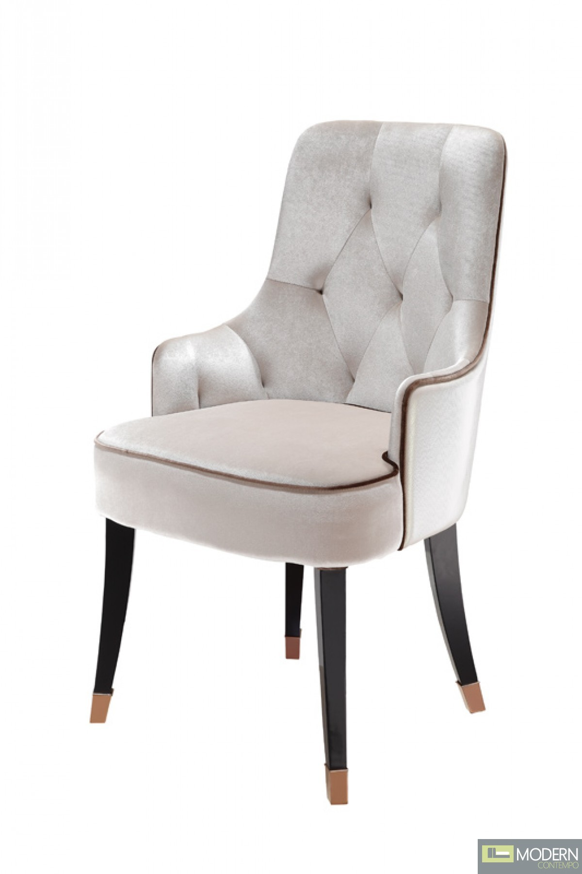 A&X Lucca Modern White Fabric Dining Chair