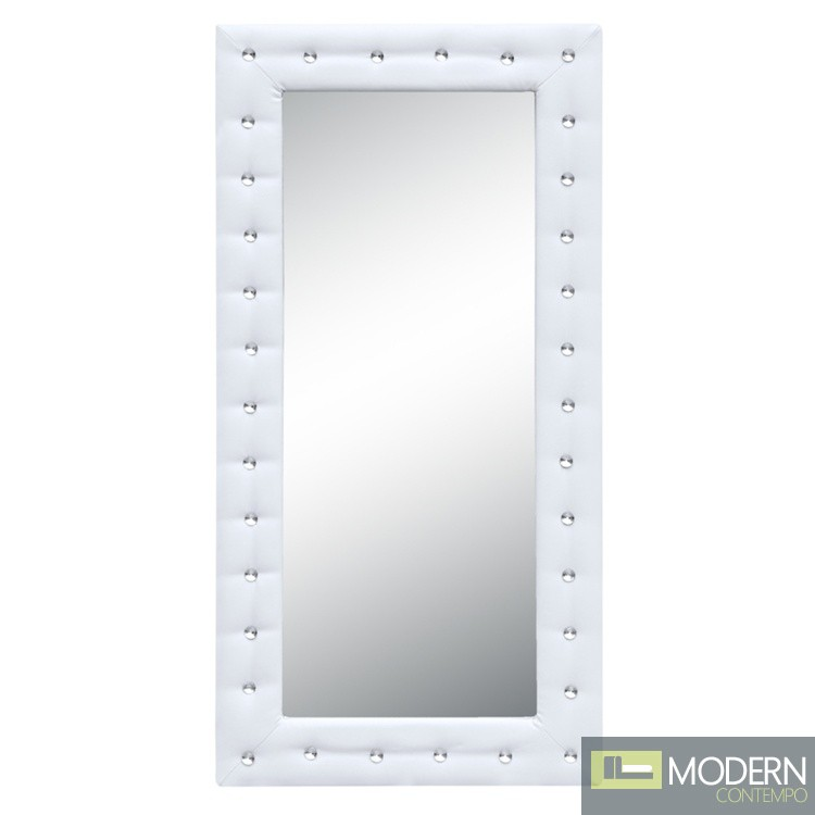 Tufted Mirror, White