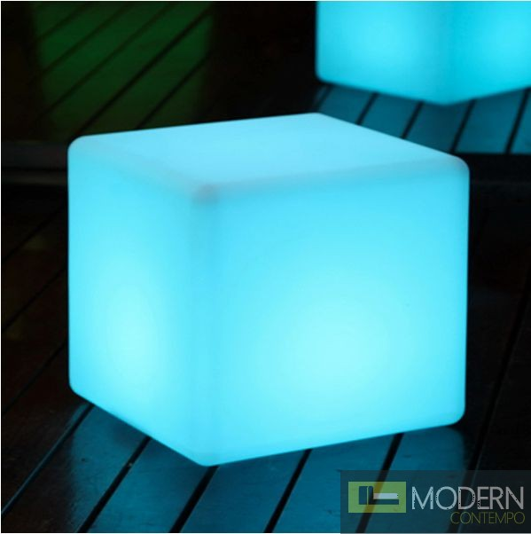 Illuminated Furniture Rechargeable Led Cube With Color