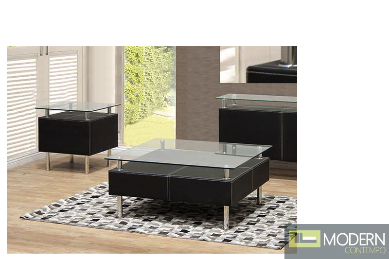 2Pc Ribiu Rectangular Coffee and End table Set