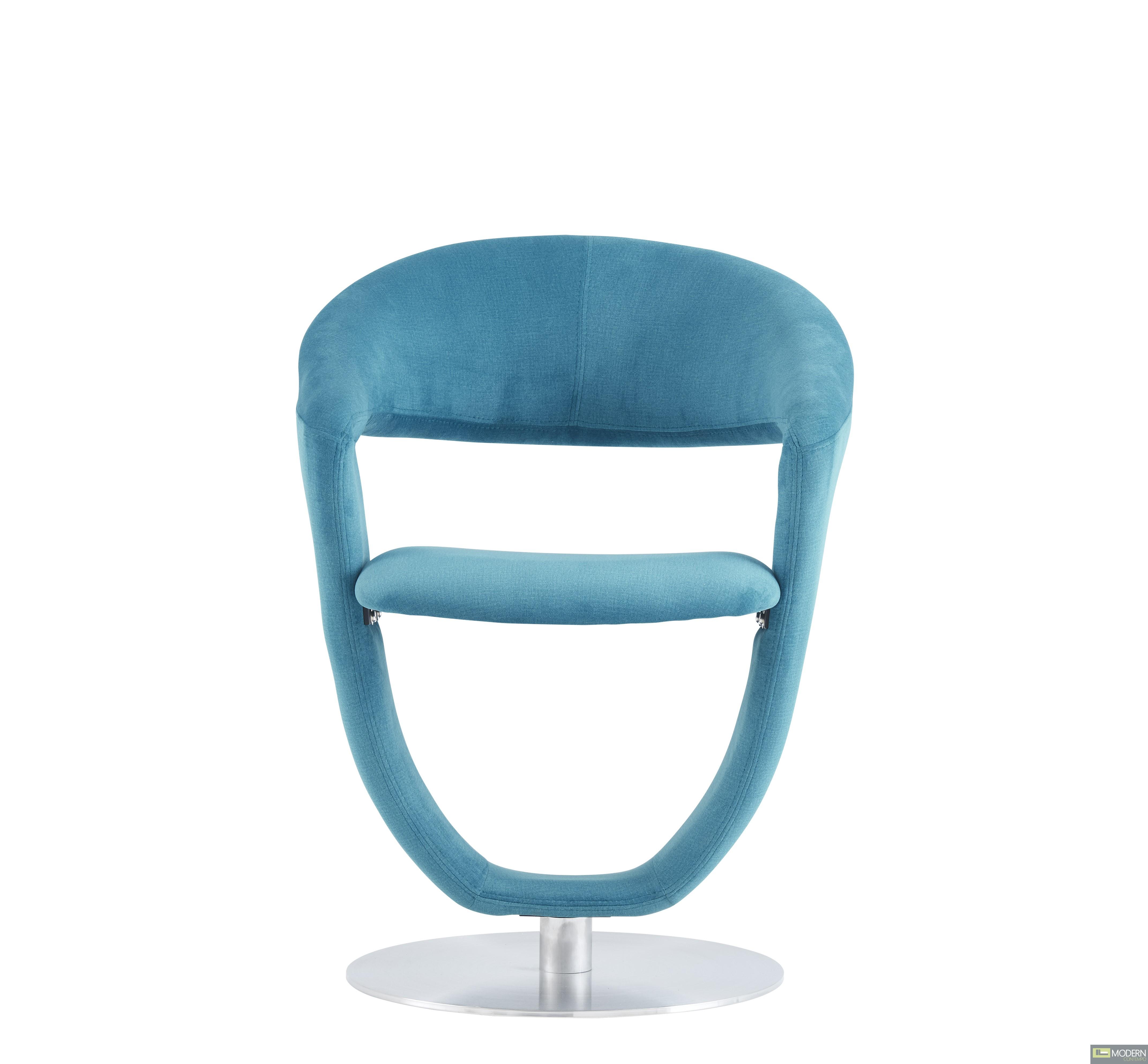 Set of 4 Turquoise Velvet Swivel Dining Chairs