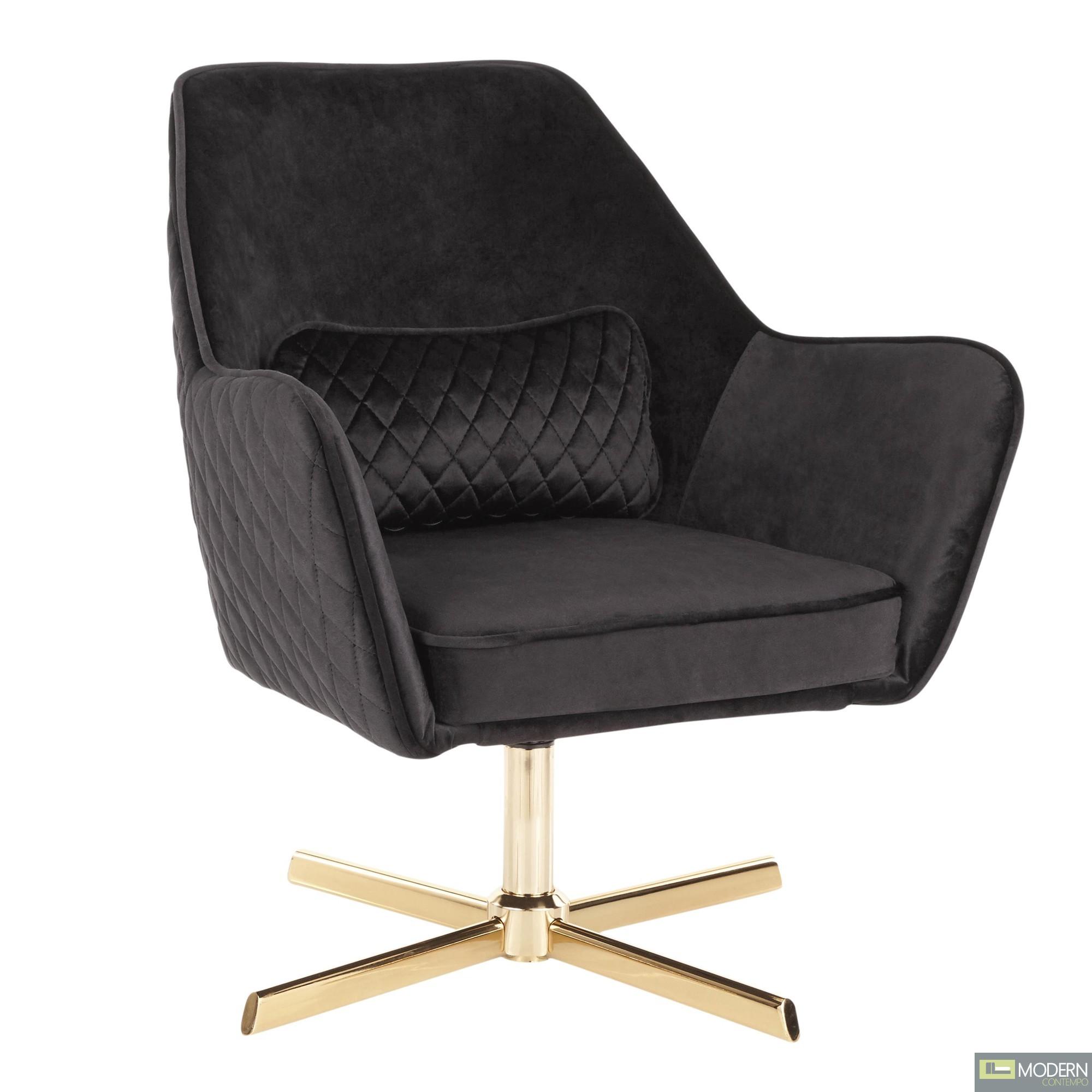 Luciana Black Velvet Lounge chair
