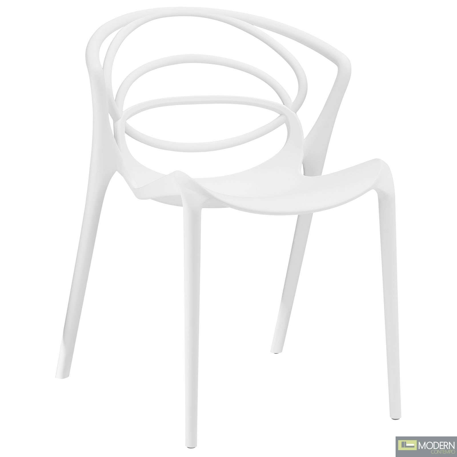 Locus White Dining Side Chair