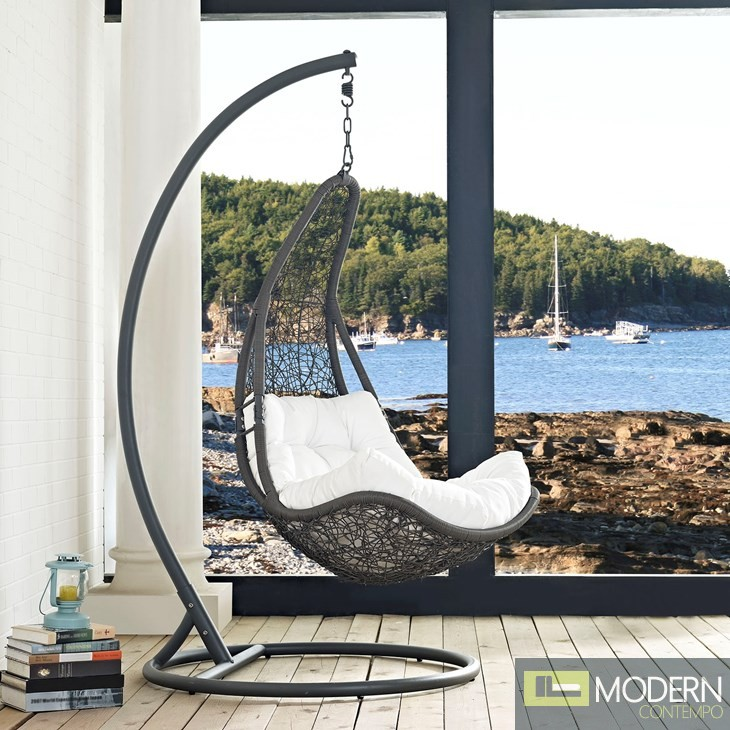 Abate Outdoor Patio swing with stand