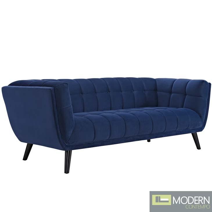 Blue Velutto Velvet Sofa