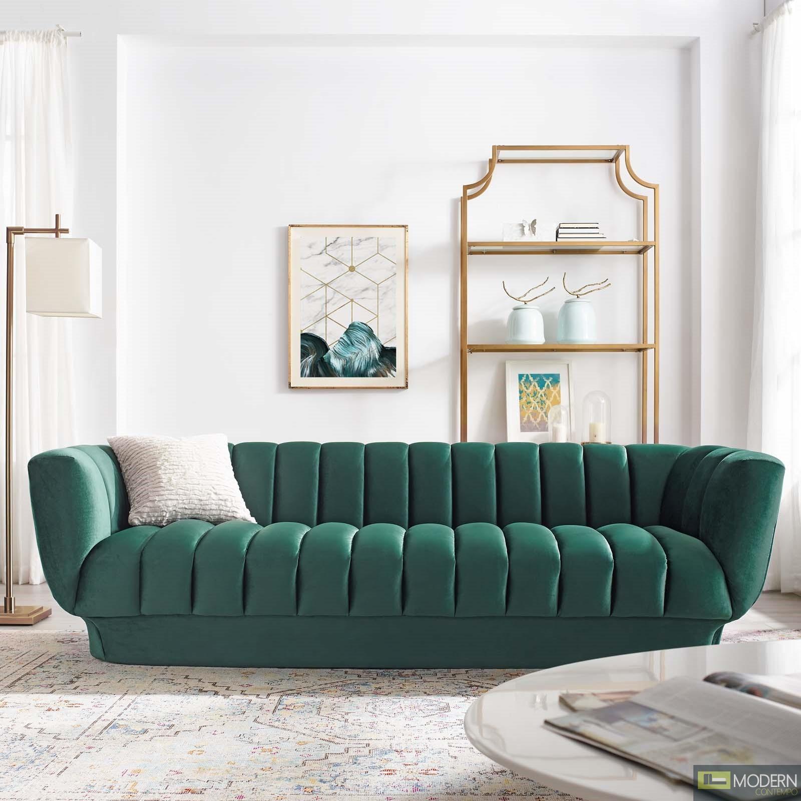 Excellent Chiara Vertical Channel Tufted Performance Velvet Sofa Pdpeps Interior Chair Design Pdpepsorg